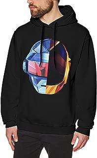 Daft Punk Robot Helmet Random Access Mens Long Sleeve Sweatshirts Man Hoodies Black