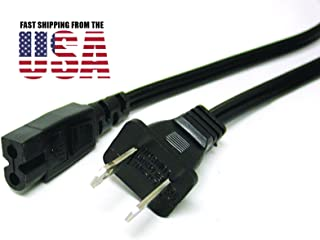 6ft POWER CORD Flat fig8 for Sharp LC-15AV6U LC-15B8U-S LC-15B9U-S LC-15S5U TV