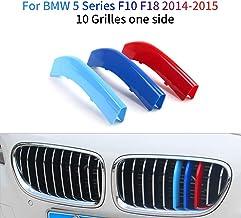 M-Colore Franjas Decorativas para Parrilla Delantera para 5 Series F10 F18 2014-2015 520i 528i 535i 550i xDrive 3 Piezas (10 Varillas)