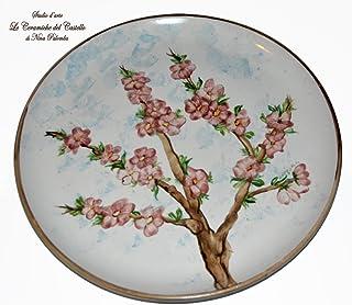 Piatto da muro - Linea Fiori di Pesco - Ceramica - Handmade - Le Ceramiche del Castello - Nina Palomba - 100% Made in Italy