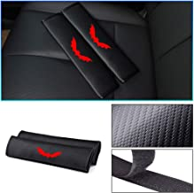 Longzhimei seat belt cover Carbon Fiber Texture with Reflective Sticker Car Safety Seat Belt Pads Shoulder Strap Cover for TOYOTA Auris Aygo C-HR Corolla Hilux Prius RAV4 2pcs