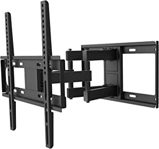 WALI TV Wall Mount Bracket Full Motion Articulating Extend Dual Arm for Most 26 to 55 inch LED, LCD, OLED Flat Screen TV up to 99 lbs, VESA 400 by 400mm with Tilting for Display (FTM-2), Black