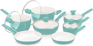GreenPan Rio 12pc Ceramic Non-Stick Cookware Set, Turquoise - CC000074-001