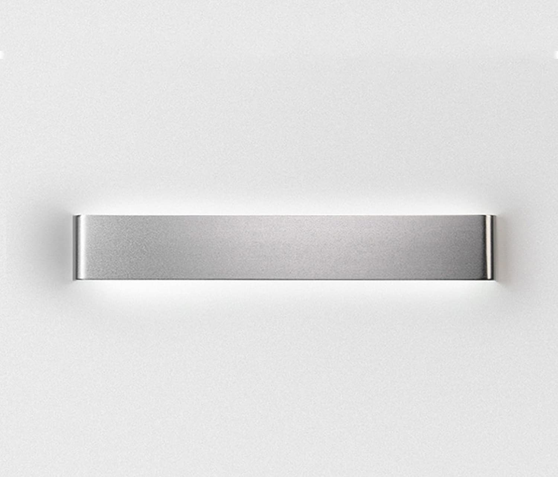 Unbekannt Modernes einfaches Schlafzimmer Bedside Aluminium Streifen Wand Lampe Creative Treppenhaus Aisle LED Spiegel Front Light (gre   A-8.5  31cm)