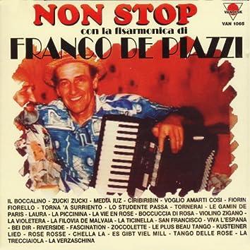 Non stop con la fisarmonica di Franco de Piazzi