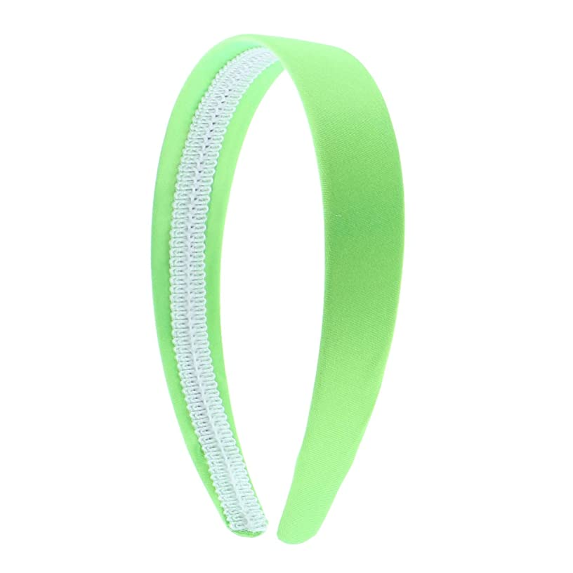 Bright Green 1 Inch Satin Hard Headband