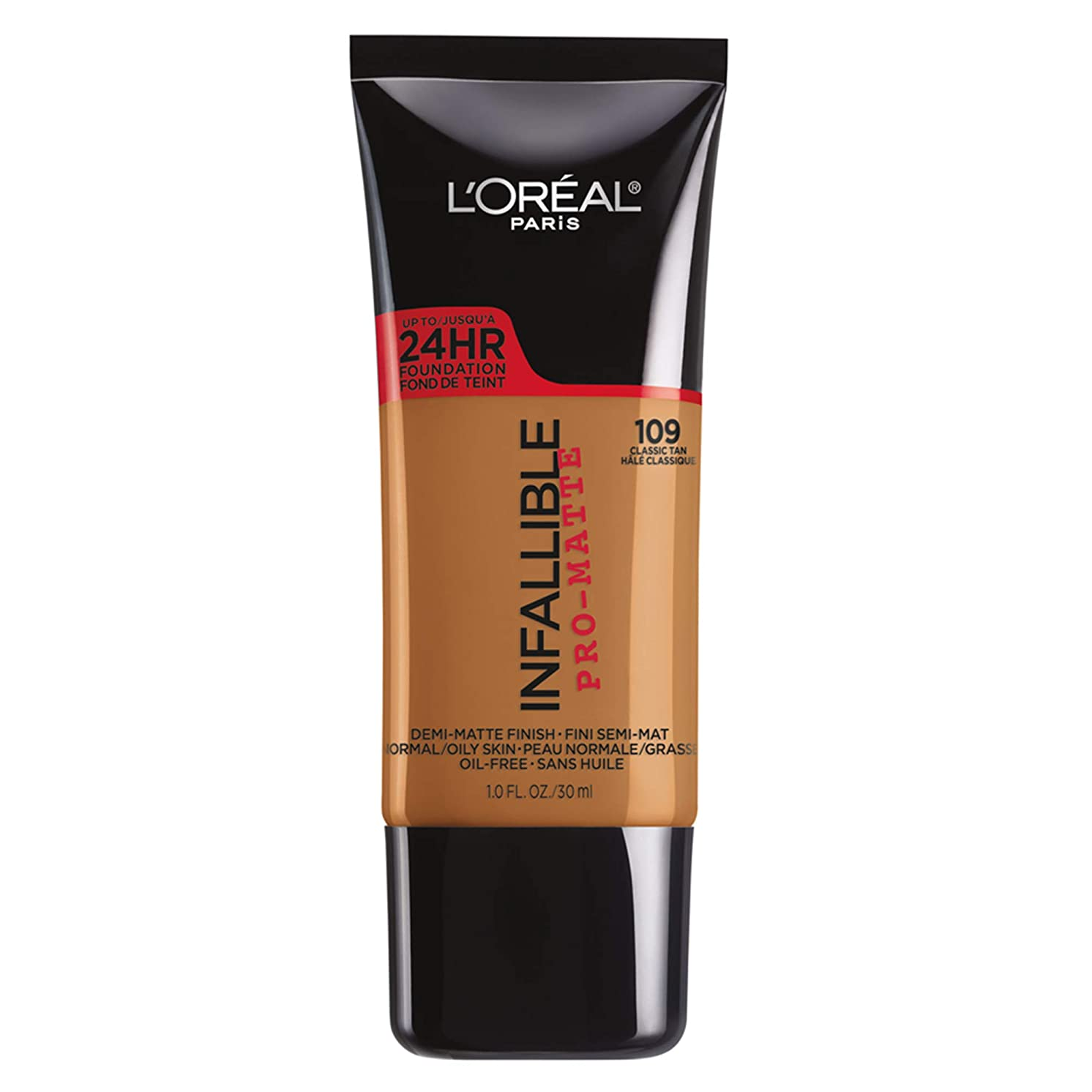 怪物低い爬虫類L'Oreal Paris Infallible Pro-Matte Foundation Makeup, 109 Classic Tan, 1 fl. oz[並行輸入品]