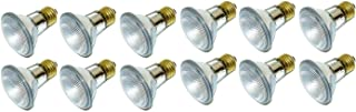 39PAR20/FL 120V - 39 Watt High Output 50W Replacement (50Par20) PAR20 Narrow Flood - 120 Volt Halogen Light Bulbs for Indoor Recessed Can, Range Hood and Outdoor, E26 Base, 2700K Warm White Pack Of 12