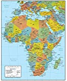 Swiftmaps Africa Wall Map GeoPolitical Edition (36x44 Laminated)