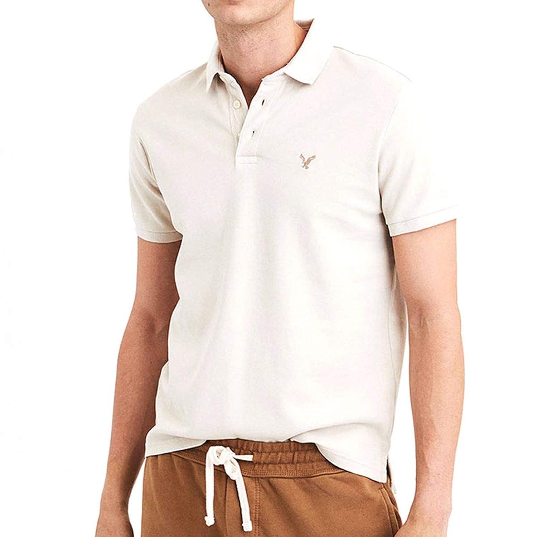 [アメリカンイーグル] AMERICAN EAGLE 正規品 メンズ ワンポイントロゴ 半袖ポロシャツ AE Ultra Soft Logo Polo Shirt 1165-8848 並行輸入品 [並行輸入品]