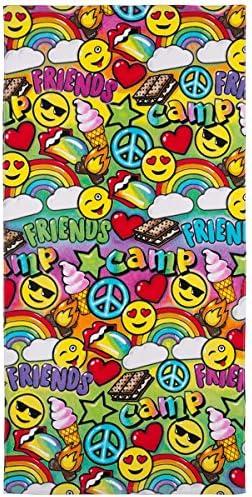 3C4G Camp Friends Cotton Terry Velour Beach Towel Rainbow product image