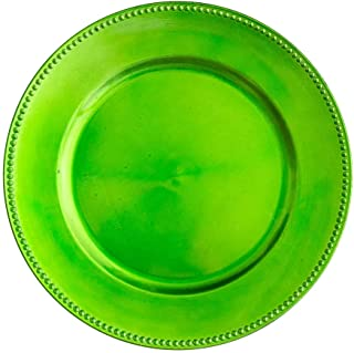 lime green charger plates