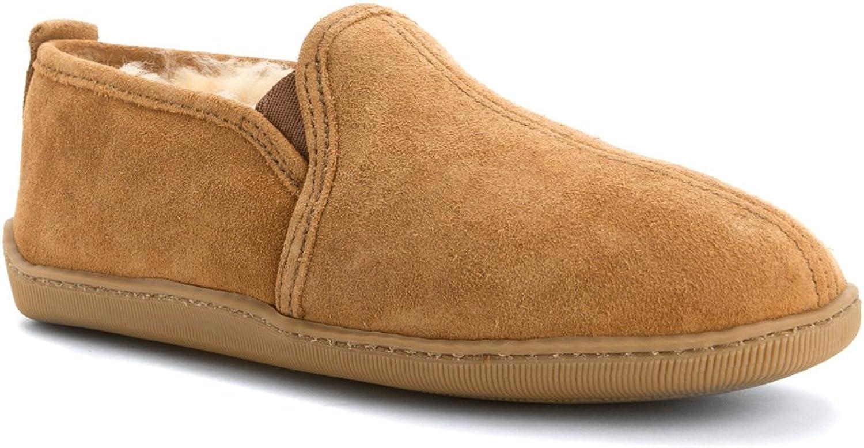 Minnetonka Men's Twin Gore Sheepskin Ankle Boots