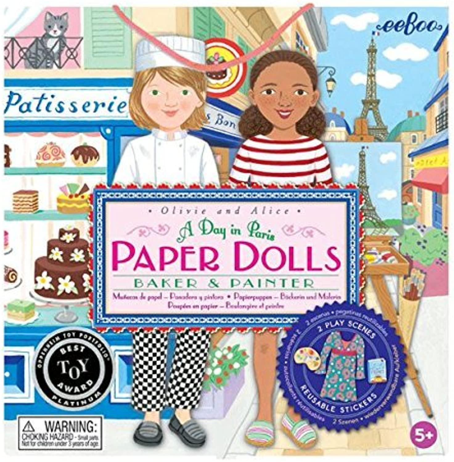 Baker and Painter Paper Dolls by eeBoo