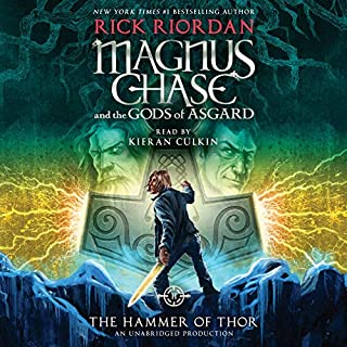 The Hammer of Thor     Magnus Chase and the Gods of Asgard, Book 2              Written by:                                                                                                                                 Rick Riordan                               Narrated by:                                                                                                                                 Kieran Culkin                      Length: 10 hrs and 34 mins     22 ratings     Overall 4.7