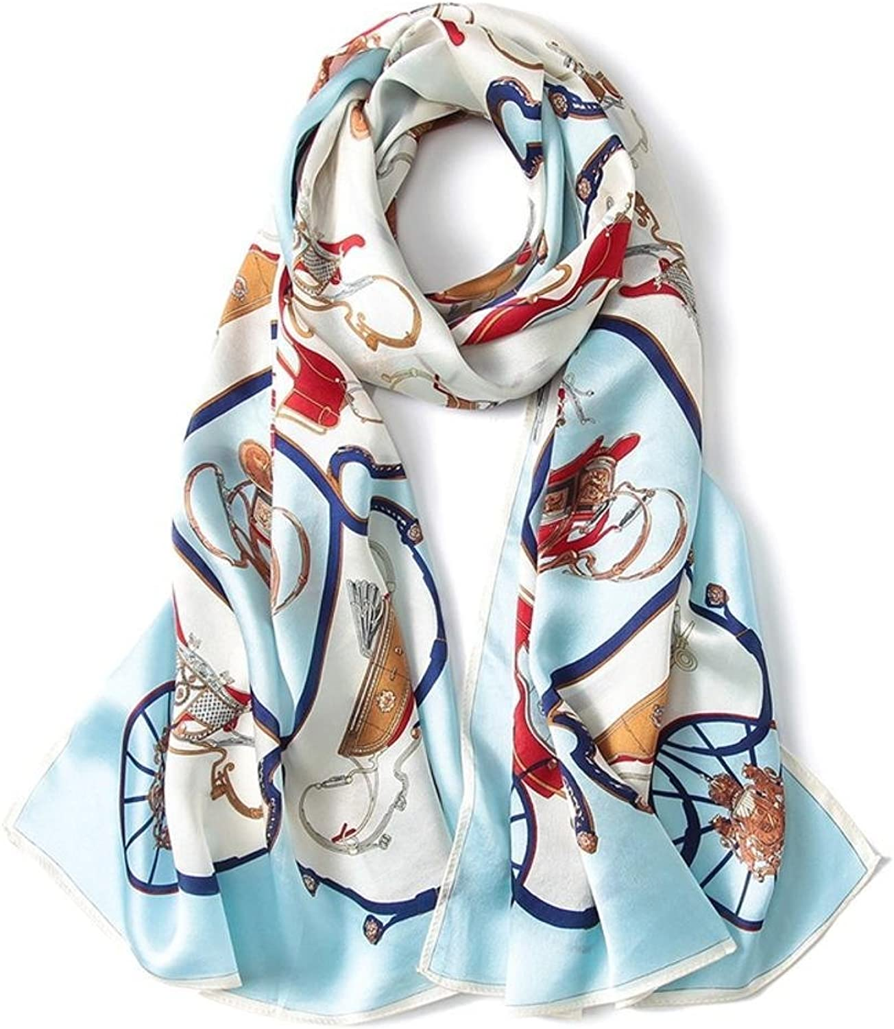 Maerye Autumn and Winter Silk Scarf Sunscreen Fashion Lady Shawl 170  53cm