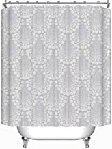 YOLIYANA Bold Damask Geometric Ornament Art Deco Vector Shower Curtain Ombre Shower Curtain 71''Long x 59''Wide