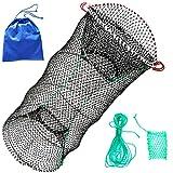 Drasry Crab Trap Bait Lobster Crawfish Shrimp Portable Folded Cast Net...