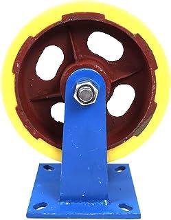 Zwaar uitgevoerde zwenkwielen Industrieel mechanisch transport Trolley vast wiel 250 mm nylon voeten 10 inch ijzeren wiel ...