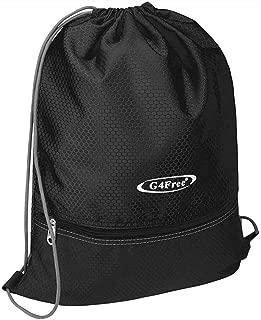 Drawstring Backpack Cinch Bag String Backpack Gym Bag for Men Women Nylon
