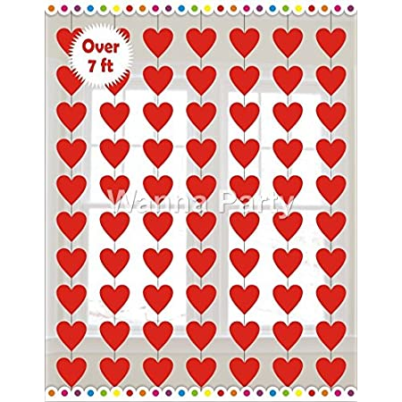 Wanna Party Heart String Decoration (Red, Pack of 6)