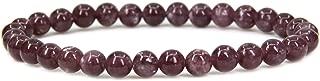 Amandastone Natural Gem Semi Precious Gemstone 6mm Round Beads Stretch Bracelet 7