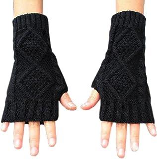 Best NOVAWO Womens Winter Arm Warmers Warm Fingerless Gloves Hand Crochet Review