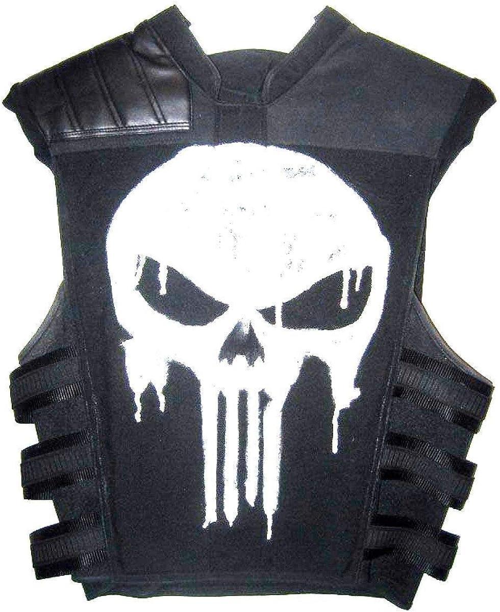 Men's Punisher Frank Castle War Zone Thomas Jane Black Tactical Leather Vest