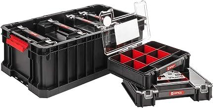 Set Qbrick Systeem Two Box + 6 x Organizer Multi 6-delig assortiment doos kleine onderdelen sorteerdoos groot met deksel s...
