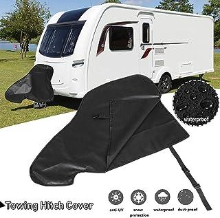 hinffinity Universelle Abdeckung für Anhängerkupplung, wasserdicht, mit schwarzen Anhängerkupplungsabdeckungen, Regen , Schnee  und Staubschutz