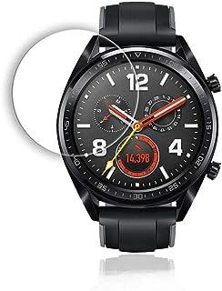 غطاء رقيق من الزجاج المقسى لحماية شاشة ساعة هواوي جي تي مقاوم للخدش بدرجة الصلابة 9اتش شفاف بوضوح عالي الدقة