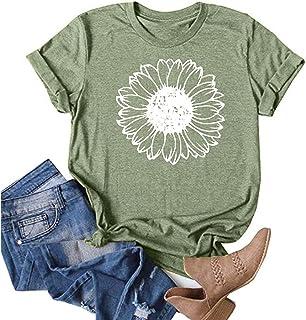 Womens Teen Girls Plus Size Summer Cute Print Tee Tops Short Sleeve Casual Loose T-Shirts Blouse