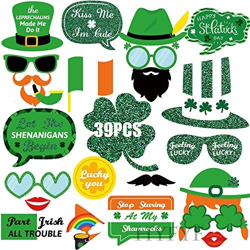 38 Stück St. Patrick's Day Photo Booth Props Brillen Masken Hut Foto Requisiten Foto Accessoires für st. Patrick's Day deko
