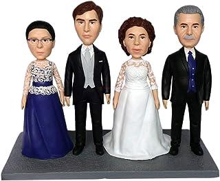 figuritas de boda familiar de 4 personas regalo de mamá y papá regalo de boda de aniversario para padres presente para mad...