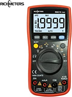 KKmoo RM219 True-RMS 19999 Counts Auto Range Digital Multimeter NCV Frequency Auto Power off AC DC Voltage Ammeter Current Ohm Transistor Tester