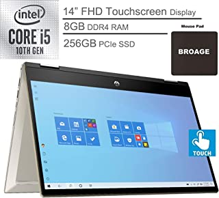 "2020 HP Pavilion x360 2-in-1 14"" FHD Touchscreen Laptop Computer, 10th Gen Intel Quad-Core i5 1035G1 up to 3.6GHz (Beats i..."