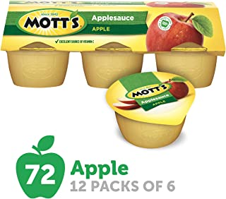 Mott's Applesauce, 4 Ounce Cup, 6 Count (Pack of 12)