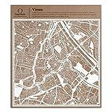 Wien Scherenschnitt Karte, Weiß 30x30 cm Papierkunst