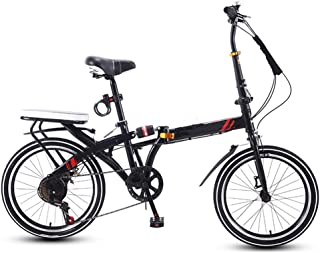 """TXTC 16"""" Peso Ligero Plegable Bicicleta De Ciudad, Cruiser Bici Mujeres De La Bici con Ajustable Manillar Mini Varón Adult..."""