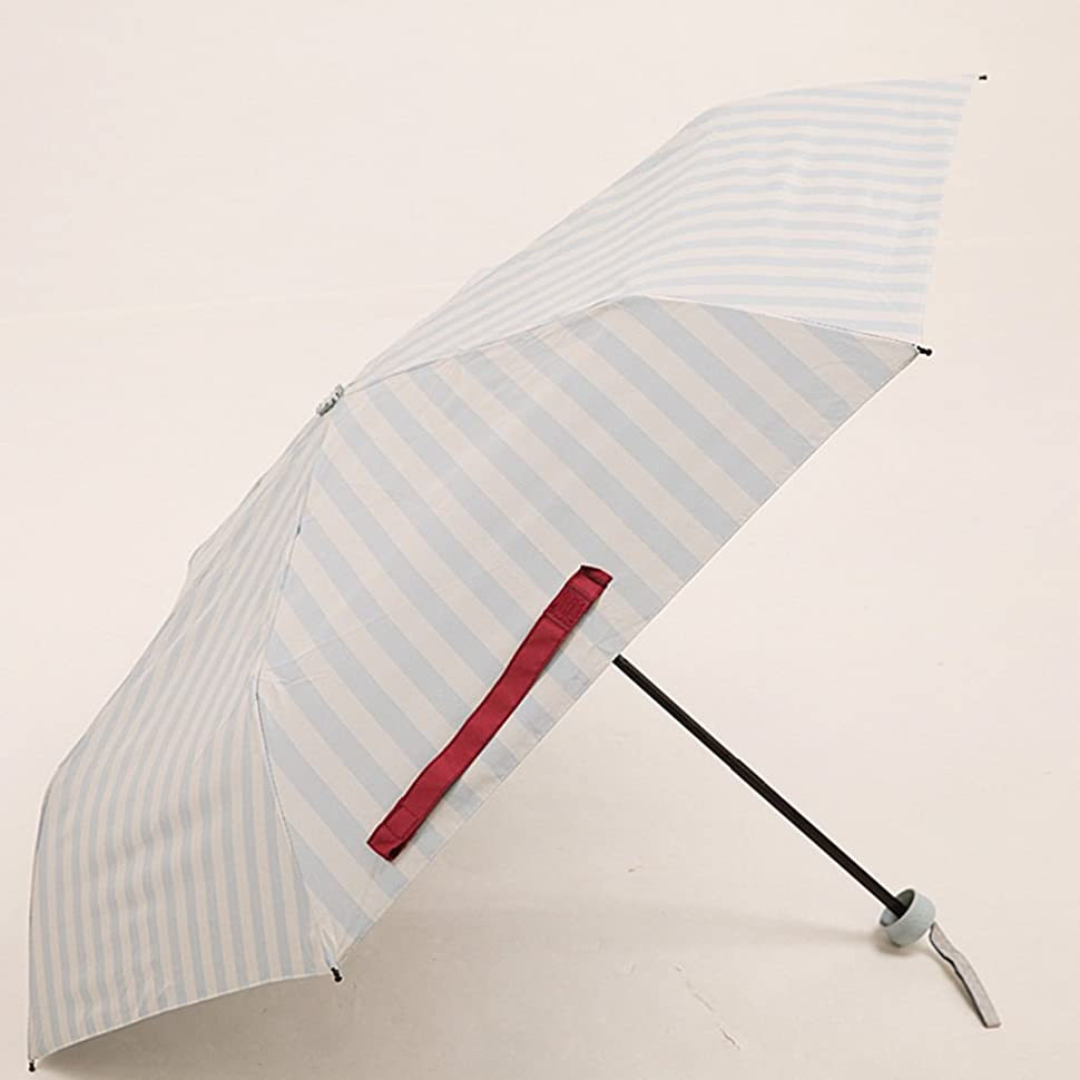 反逆アンタゴニスト出します超軽量の携帯用パラソルを折る夏の海軍縞の黒い傘の日よけの日曜日 ズトイビー (Color : #1)