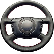 DYBANP Cubierta de Volante de Cuero Negro para Audi A2 (8Z) A6 (C5) Avant A8 (D2) S4 2003 2005-Hilo Azul Oscuro