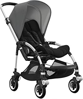 Bugaboo Bee5 Complete Stroller with Aluminum Frame with Black Seat Fabric and Grey Melange Sun Canop