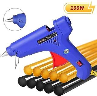 Manelord Glue Gun – 100W Hot Glue Gun with 10Pcs High Adhesion Hot Glue Sticks for..