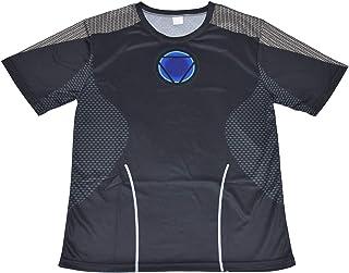MODELA アイアンマン(Iron Man) Tシャツ 吸汗速乾 フィットネストレーニング 運動スポーツ 伸縮 半袖 (M)