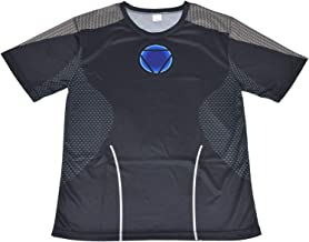 MODELA アイアンマン(Iron Man) Tシャツ 吸汗速乾 フィットネストレーニング 運動スポーツ 伸縮 半袖 (XL)