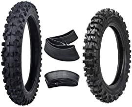 WPHMOTO Front 60/100-14 & Rear 80/100-12 Motocross Tire with Tube for Dirt Bikes Pit Pro Trail