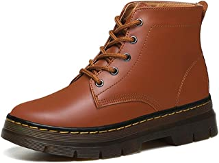 Handsome Motorcycle Boots Thick with Martin Boots high Heel Women's Boots Spring and Autumn Single Boots (Color : Orange, Size : 37)