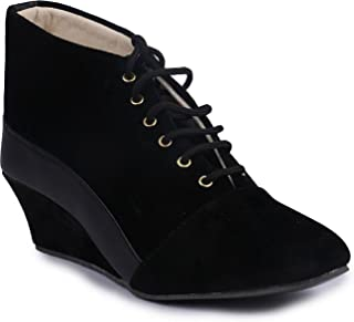 TEQTO Stylish & Fashionable Suede & Napa Ankle Boot's for Women