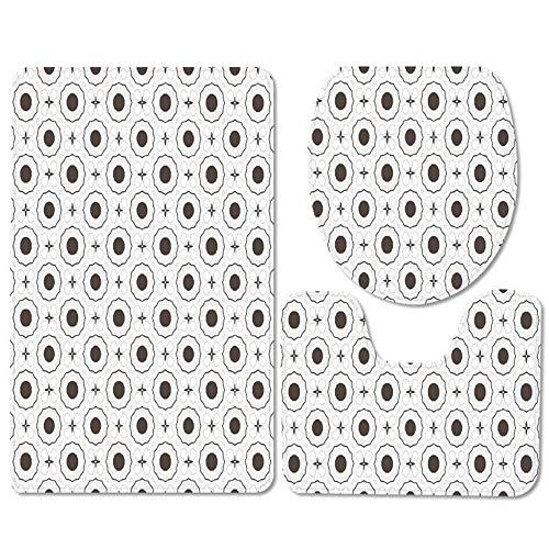 IRCATH Blanco Blanco Spot Modelo DE MODELA Moderna Moderna Moderna Moderna DE Tres Deslizante de Threet Pieza-C1 Alfombra de Ducha con Espuma de Memoria de baño de Secado rápido