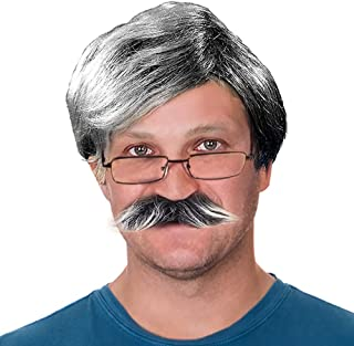salt and pepper mens wig
